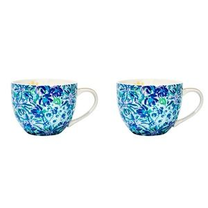 Lilly Pulitzer Ceramic Coffee Mugs Set of 2 FFF